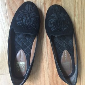 """Suede """"smoking slippers"""" loafers."""